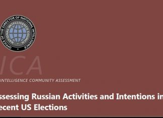 Intellegece Agencies Report on Russian Hacking of Presidential Elections