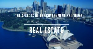 government shutdown and real estate